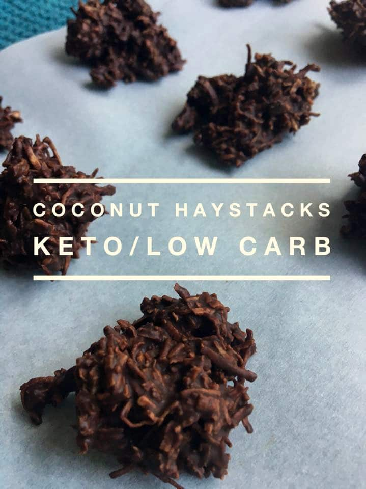This Coconut Haystack Recipe is keto friendly and a perfect chocolate coconut treat to satisfy your cravings. Ready in minutes, it is an easy snack to make!