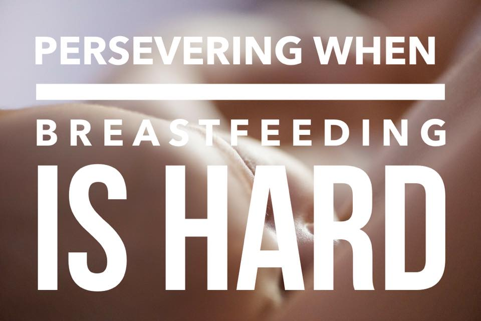 persevering when breastfeeding is hard