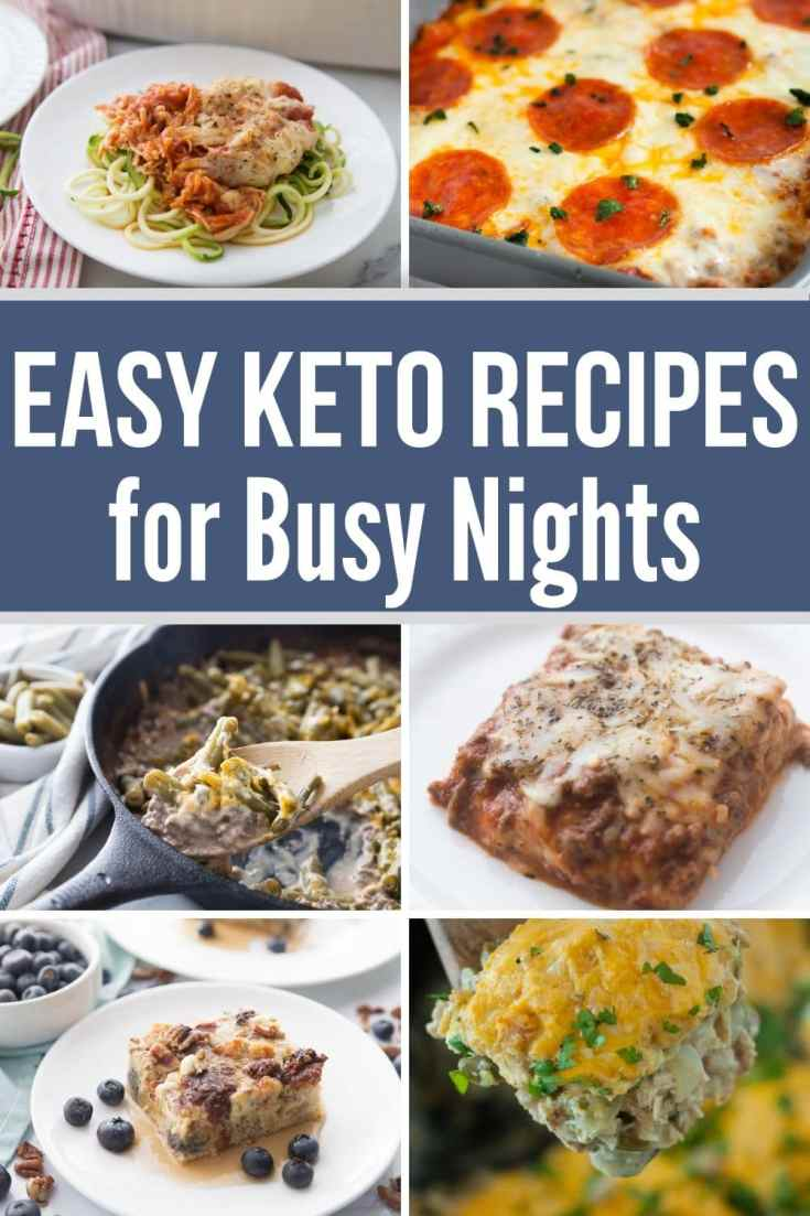 collage of easy keto diet recipes