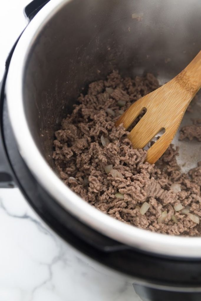 browning ground beef in an instant pot