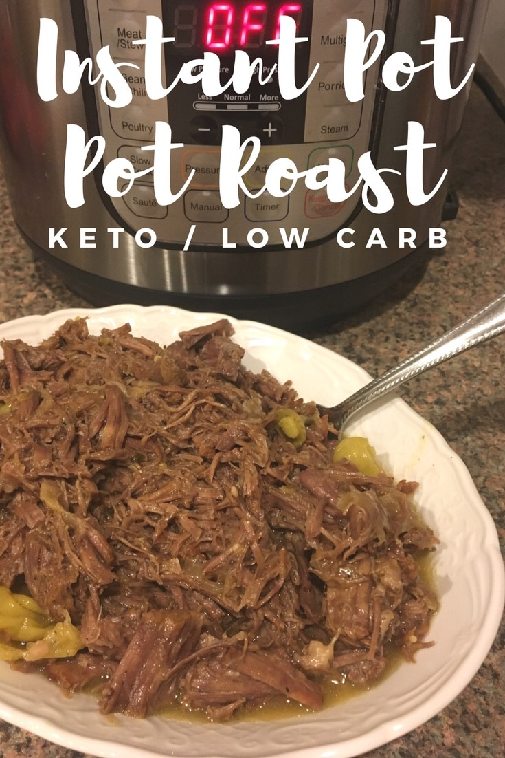 Our Keto Instant Pot Pot Roast Recipe is sure to please your family! Ready in half the time of other methods, this is a juicy and tender pot roast!