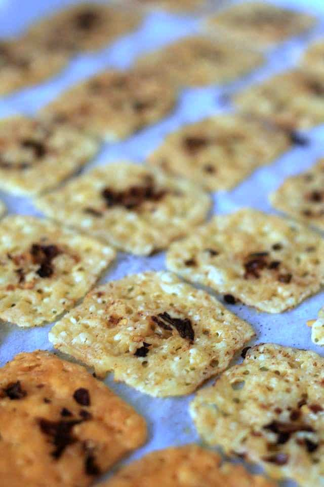 Keto Cheese Crackers are the low carb snack you are dreaming of making. Follow my recipe for the perfect crunchy and flavorful low carb cracker!