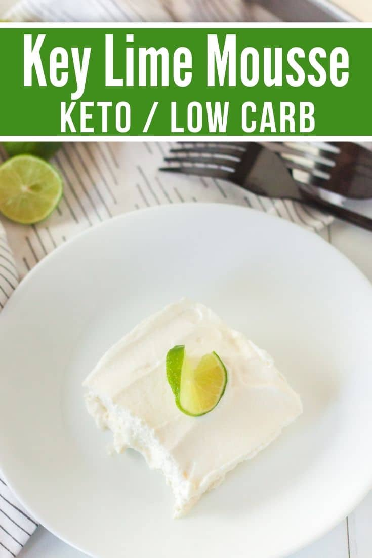 key lime keto mousse plated