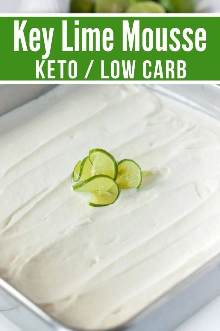 keto dessert in a baking dish with spiralized key lime on top