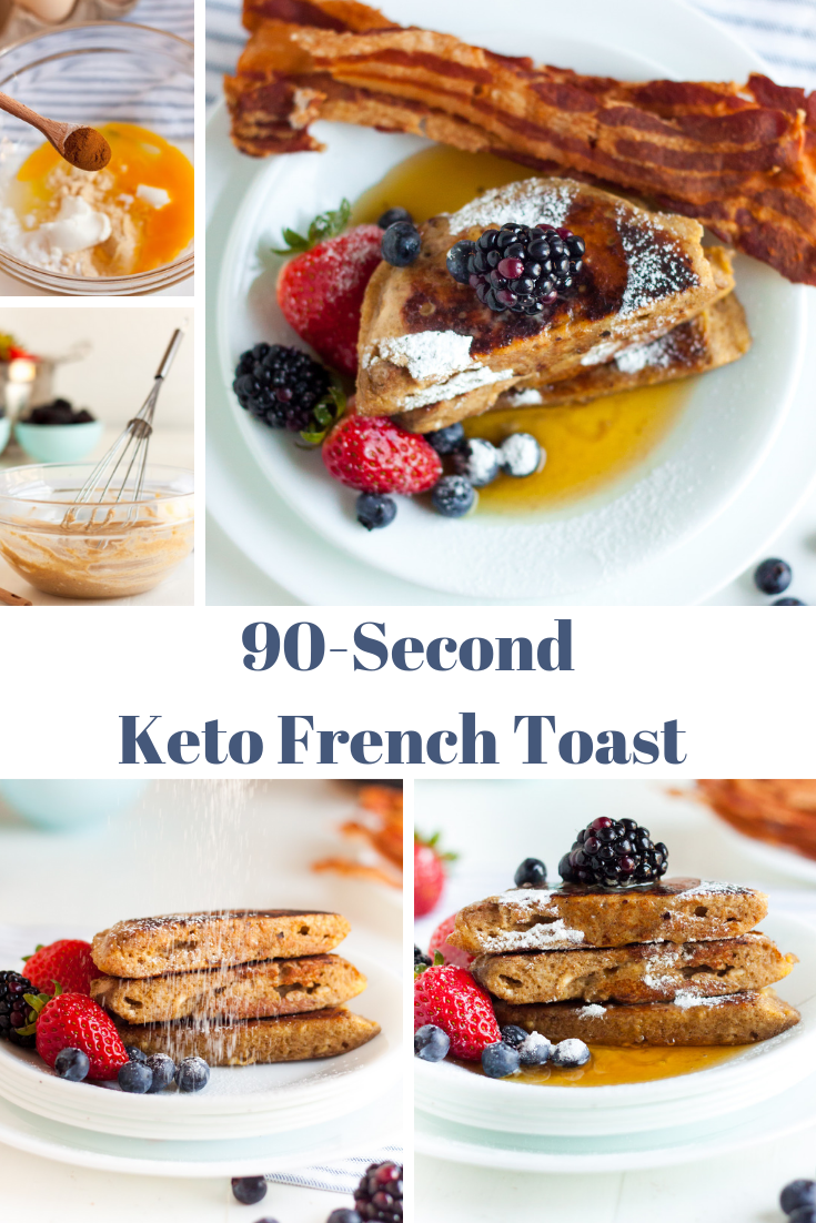 collage of keto French toast images