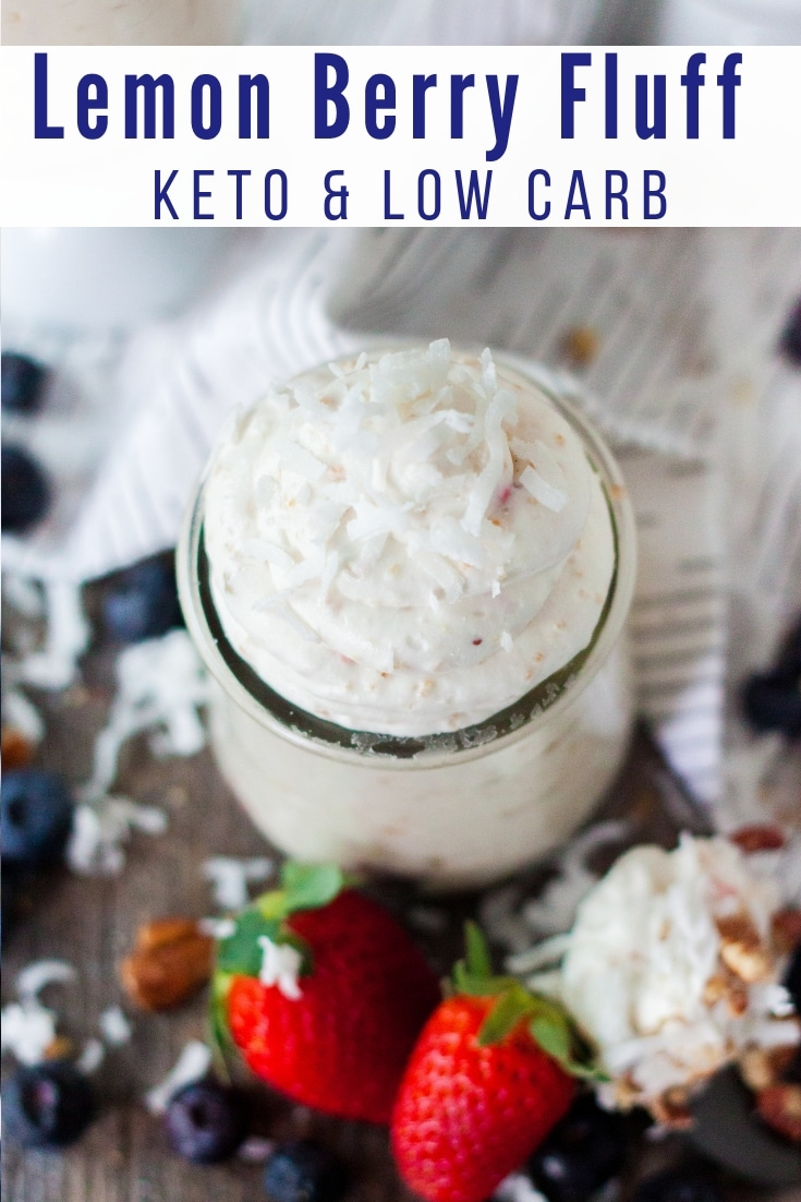You can make this easy Lemon Berry Keto Cream Cheese low carb dessert in minutes to satisfy your sweet tooth! This simple keto dessert recipe is a favorite with light flavor! #keto #lowcarb
