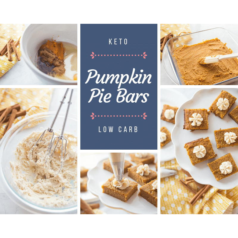 Low Carb Pumpkin Pie Bars are delicious and this Keto Dessert Recipe is just what you need to stay on track on your low carb diet plan! Keto dessert recipes aren't hard to make! This low carb dessert is a hit with everyone!
