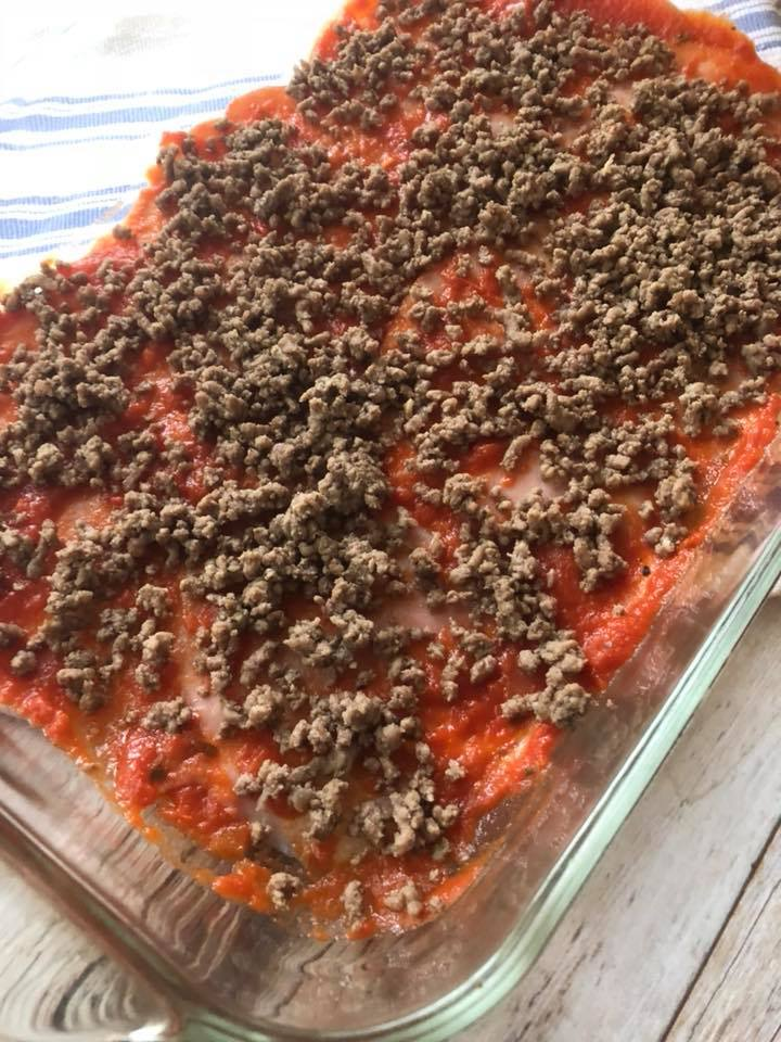 Keto Pizza Casserole is a satisfying and super easy recipe that gives you tons of flavor without all of the cabrs of your favorite pizza recipe!