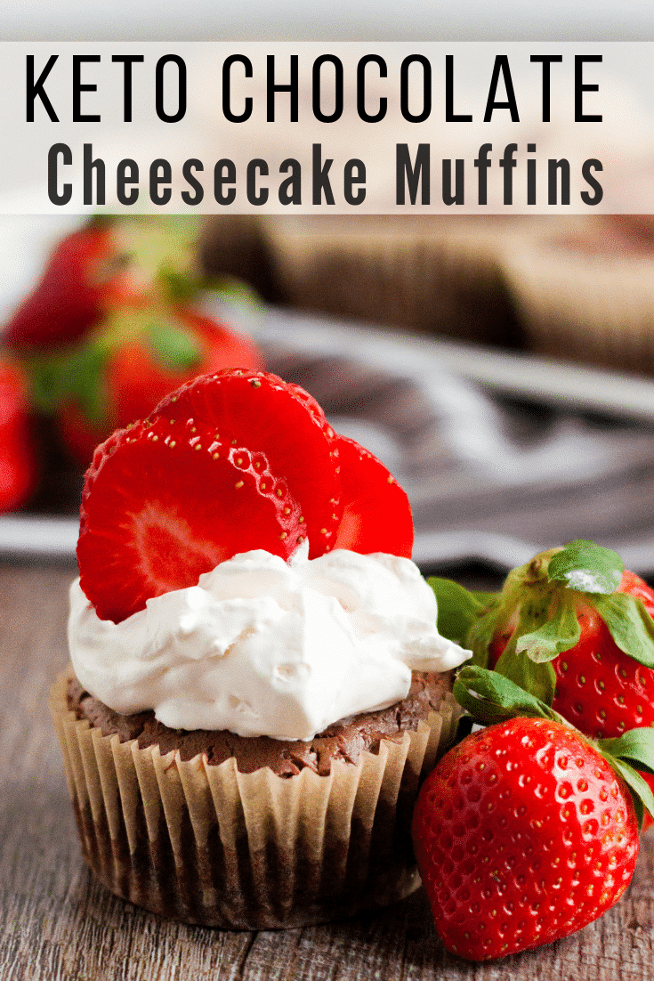 If you are looking for a low carb dessert option, these quick and easy Keto Chocolate Cheesecake Muffins are the perfect solution for a chocolaty delicious and simple treat. #keto #lowcarb