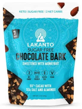 lakanto chocolate bark