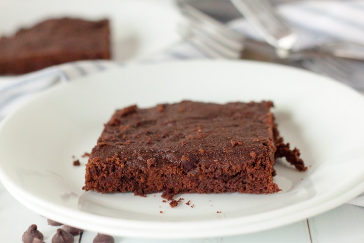 keto brownie plated