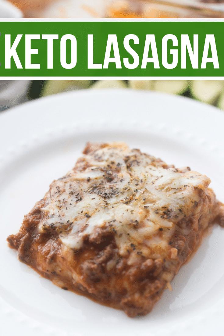 zucchini lasagna keto recipe plated