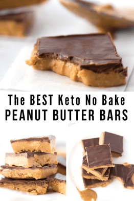 Best Keto No Bake Peanut Butter Bars