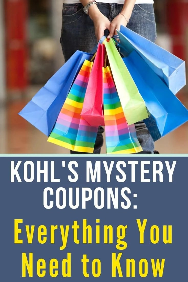 lady holding shopping bags for kohl's mystery coupon codes