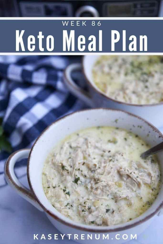 Keto Chicken and Cauliflower Soup Meal Plan