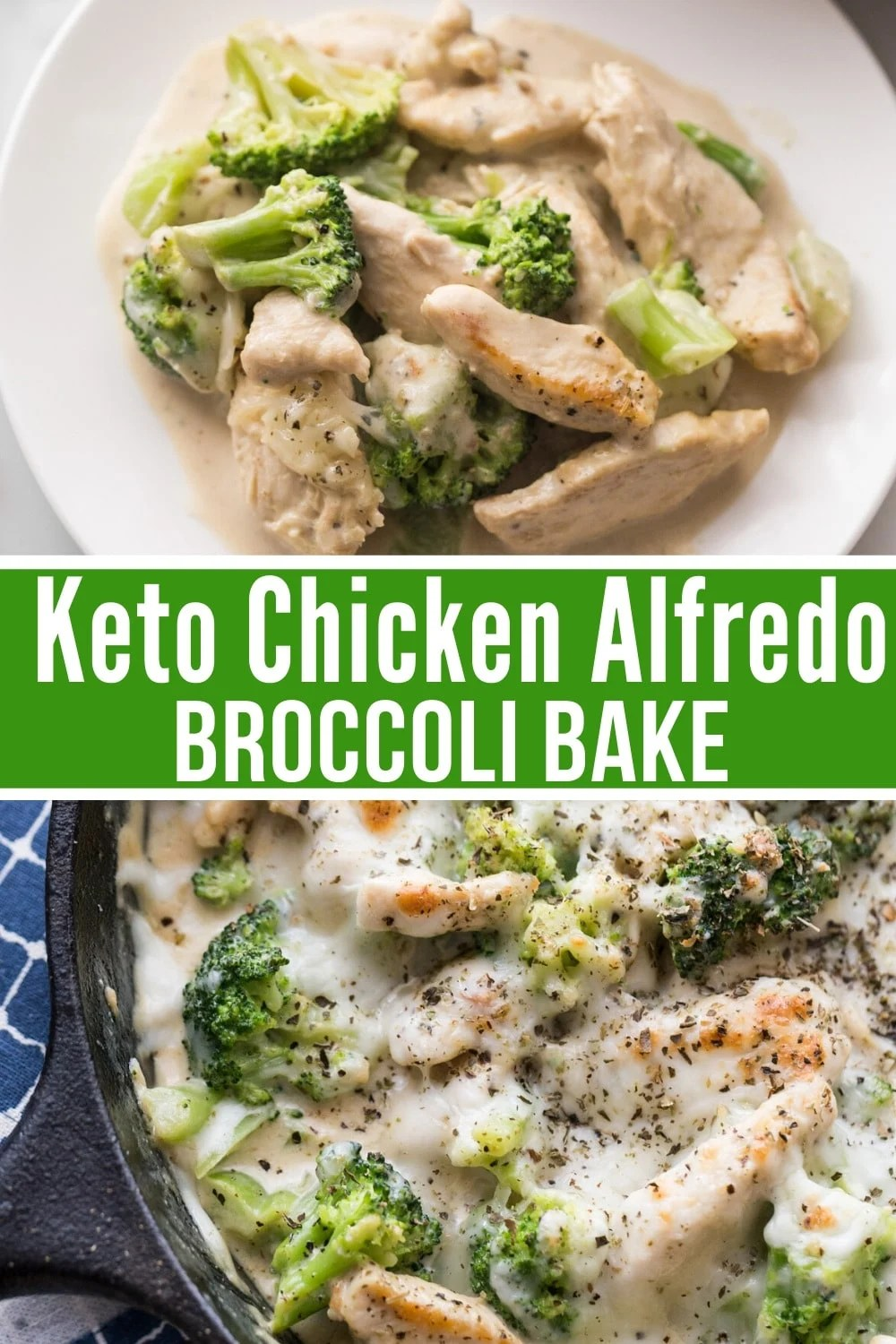 chicken alfredo with low carb sauce pics in a collage