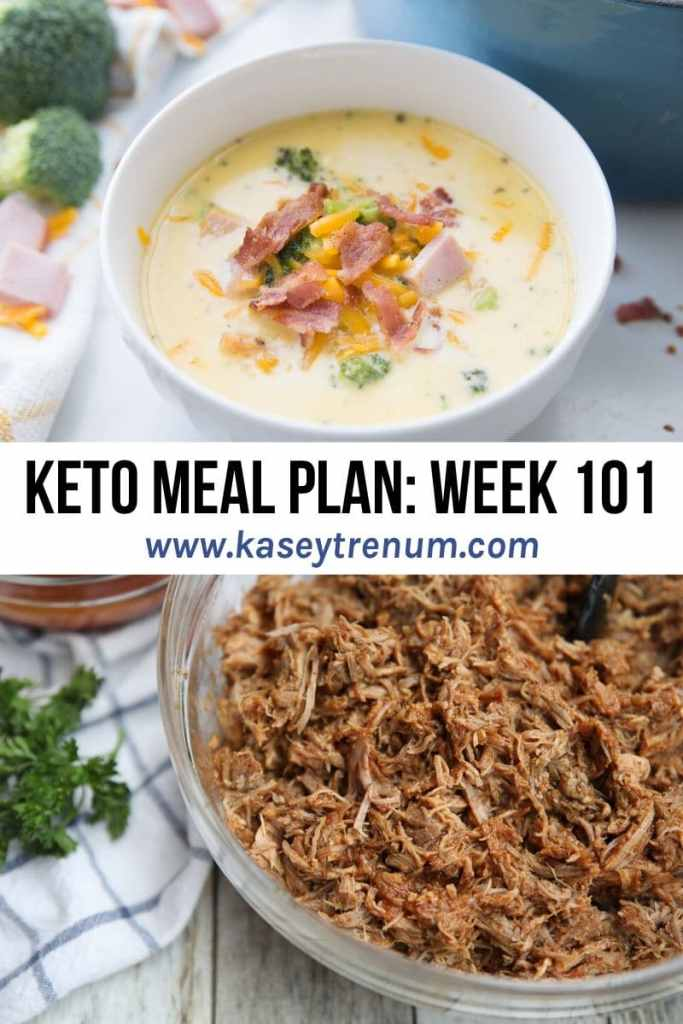 A Photo Collage of 2 Keto Meals in a Keto Meal Plan