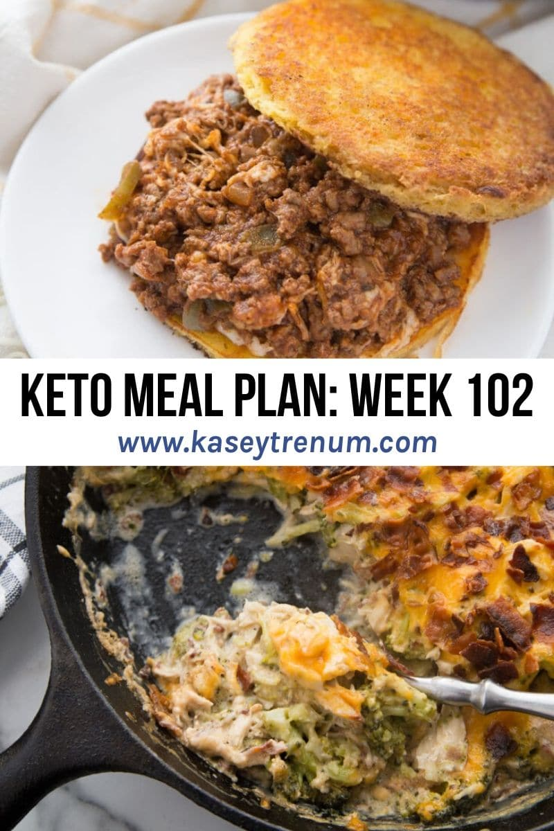 Photo Collage of 2 Keto Recipes in a Keto Meal Plan
