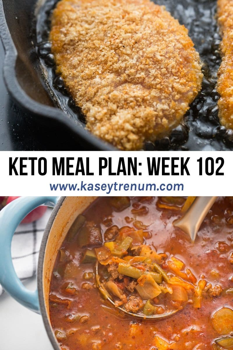keto meal plan collage with images of food