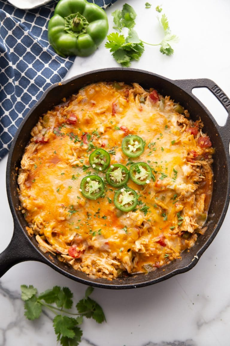 Low Carb Keto One Pot Mexican Taco Skillet