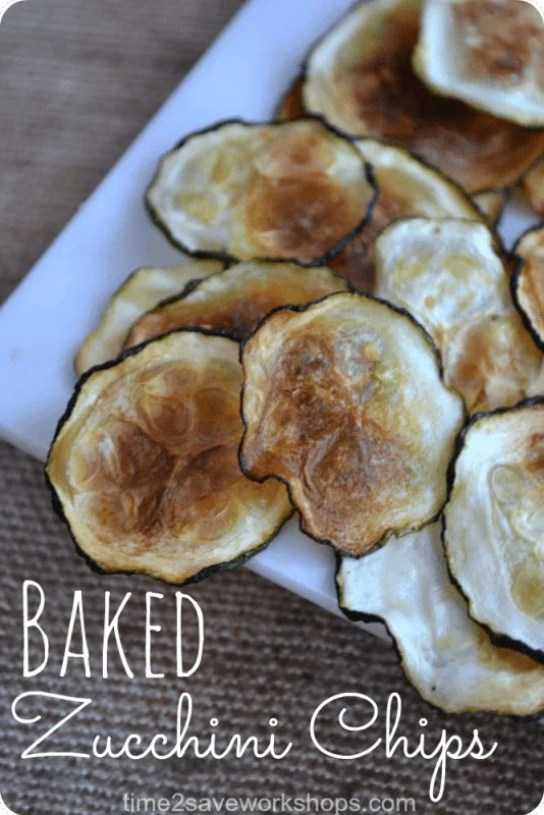 zucchini chips on a white plate