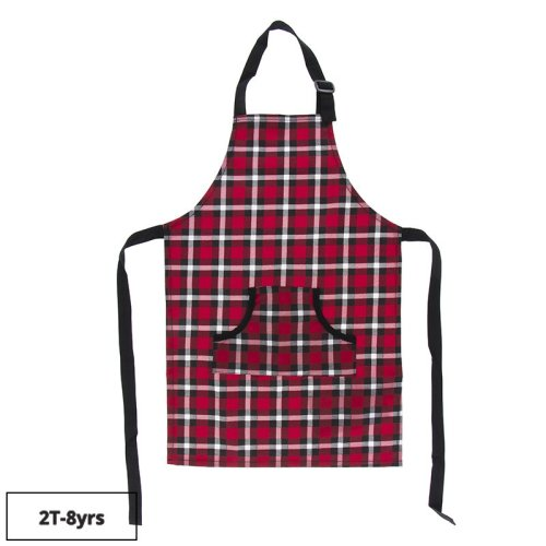 Kickee Pants CONTINUE SHOPPING Print Apron in Crimson Holiday Plaid