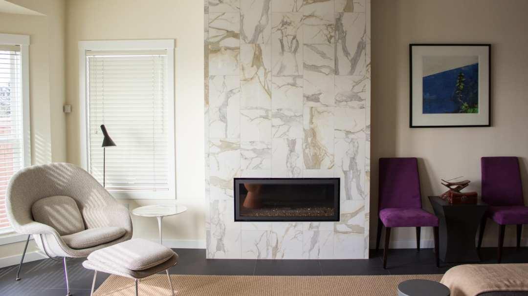 horizontal fireplace