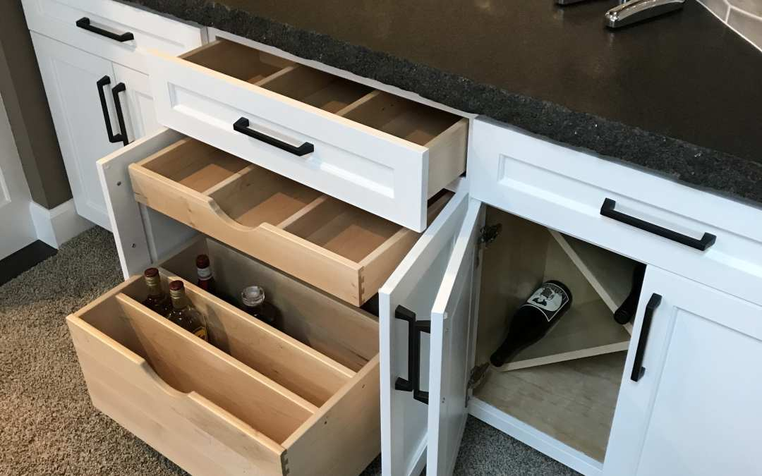 Efficient & Awesome Dry Bar Storage Ideas