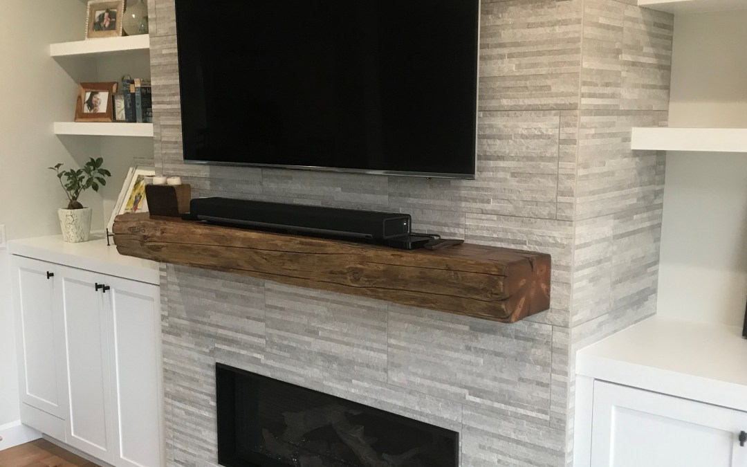 Reclaimed Timber Floating Mantle