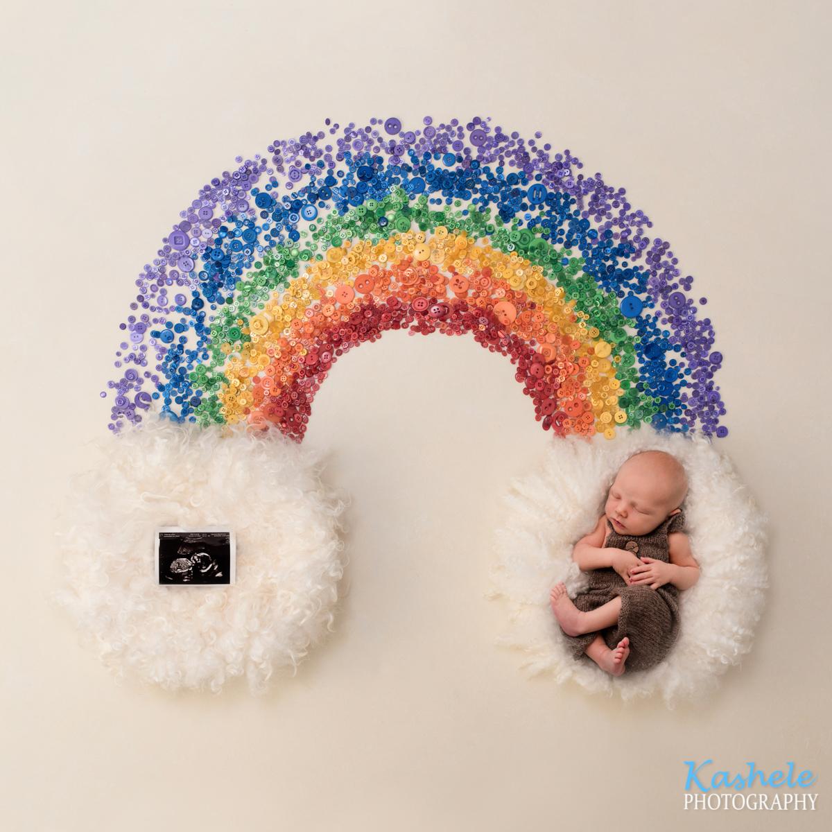 Rainbow image for Alexis' rainbow baby