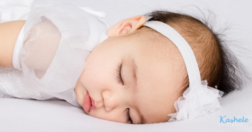 Baby Dream Session little girl sleeping on her tummy