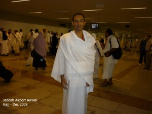 Arriving at Jaddah Airport for Hajj