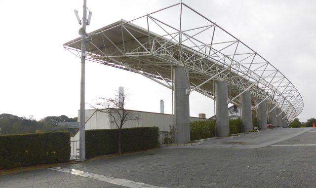 京都 太陽が丘 陸上競技場 屋根