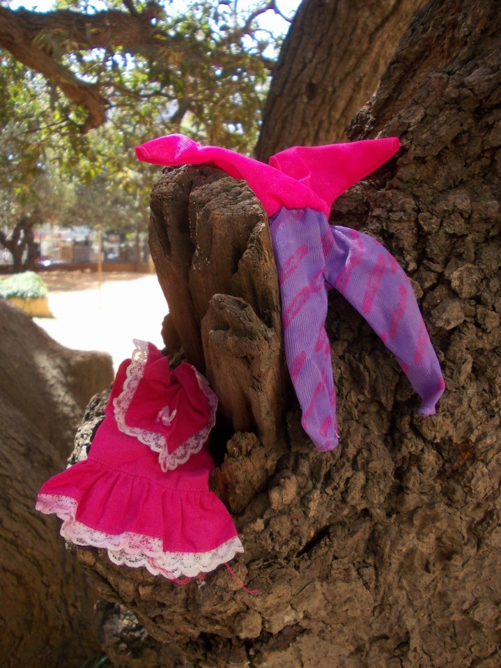 My collection of Barbie doll clothes retained from childhood