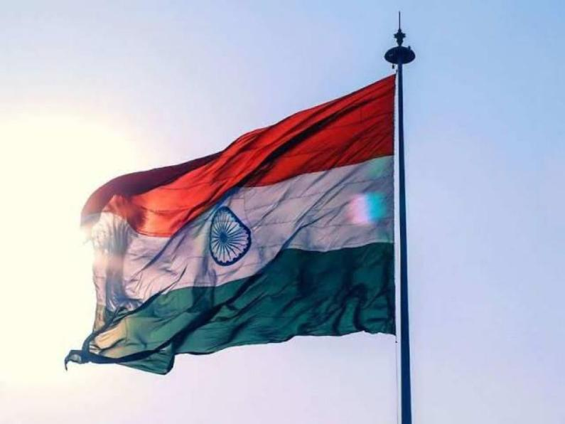 CJ hoists National flag at HC Jammu
