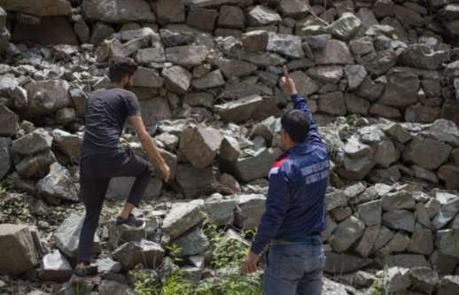 Aharbal is a beautiful destination and people try to go as close as possible to the waterfall, due to the threat of accidents and rise in suicide cases in the valley Aharbal Development Authority doesn't allow anyone to cross the fences. (Photo:- Umar Farooq for The Kashmiriyat)