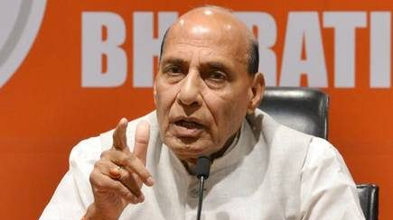 Talks would be held with Pakistan only on Pakistan administered Kashmir: Rajnath Singh