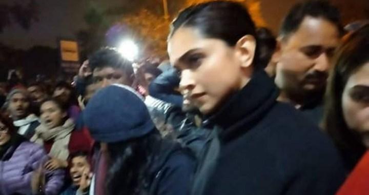 Deepika Padukone visits JNU, Meet student president