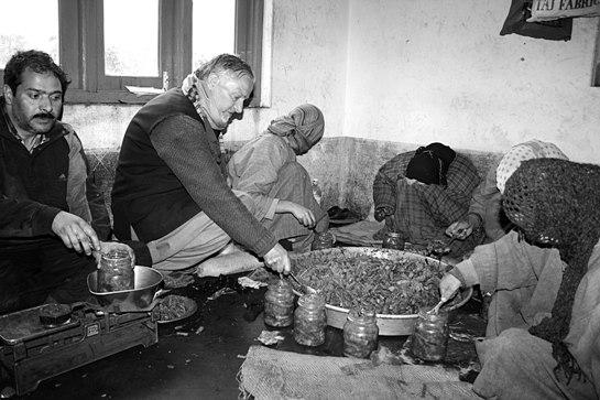 Abdul Rashid Bhat at his factory.