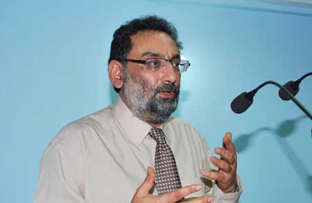 Minister of finance employment and culture DR Haseeb Drabu