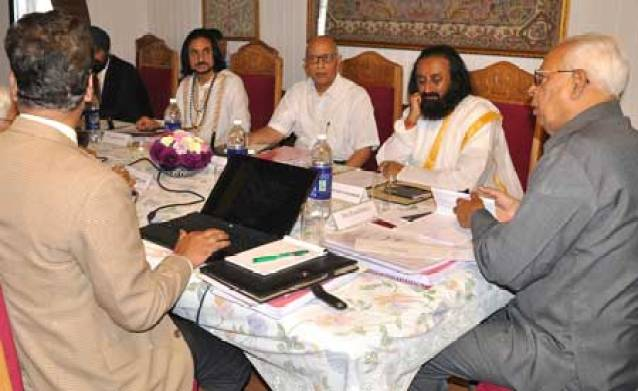 Members of shri Amarnath Yatra Board in a meeting.
