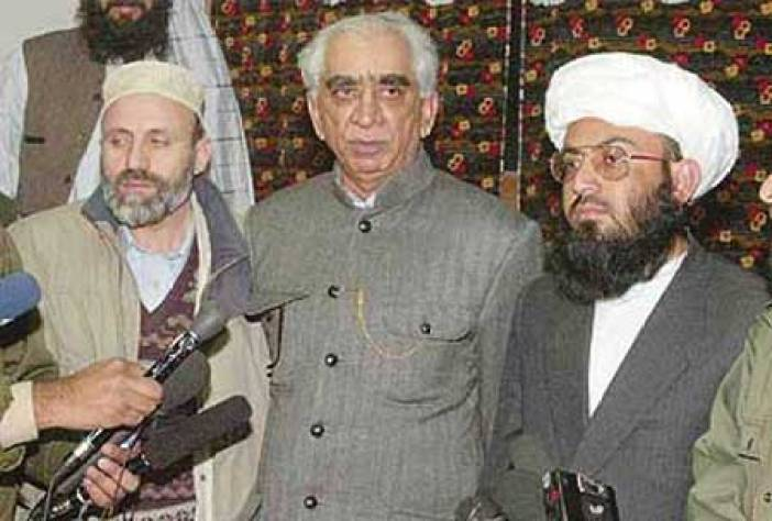 Jaswant Singh after a press conference in Kabul