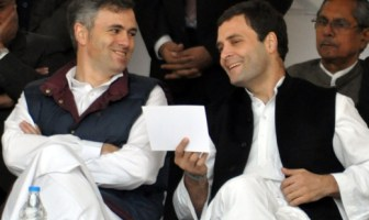 Chief Minister Omar Abdullah and Rahul Gandhi at Sonmarg