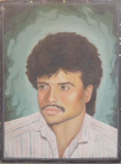 Mushtaq Ahmad Botoo, had got this potrait made in Delhi a month before his arrest.