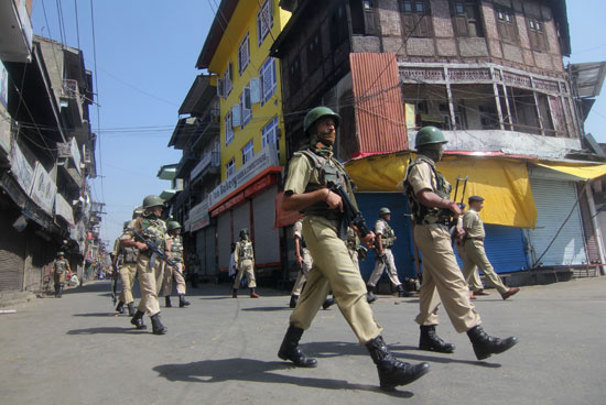 On Spot: As the news of the firing spread, police and paramilitary reached at spot in a jiffy. By that time, market around had worn deserted look.