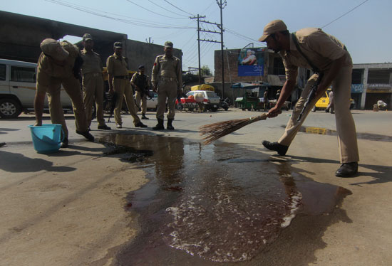 On Wash: The road was painted red with the blood of CISF personnel, which was later cleaned by the cops.