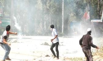Youth of Shopian engaged in a ding dong battle with para military forces.