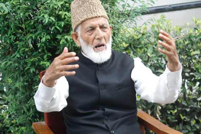 The government has imposed strict curfew whenever Syed Ali Geelani has called for a peoples' march. File photo : Yasir Muhammad