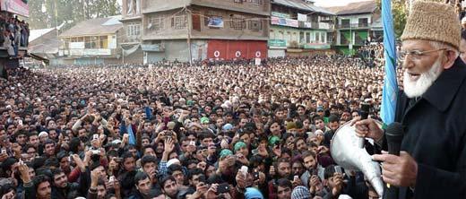 Syed-Ali-Geelani-addressing-at-Kupwara