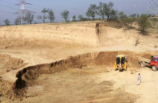 The excavation of rich Saffron land going on.Pic: Bilal Bahadur